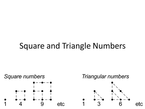 Square and Triangle Numbers