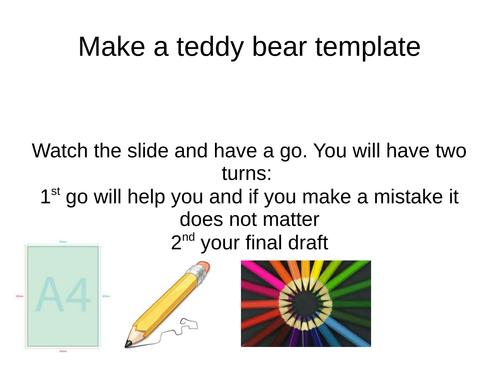 drawing a teddy bear