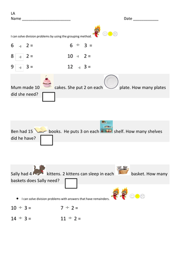 Division as Grouping worksheets by Gorgon10 - Teaching Resources - Tes