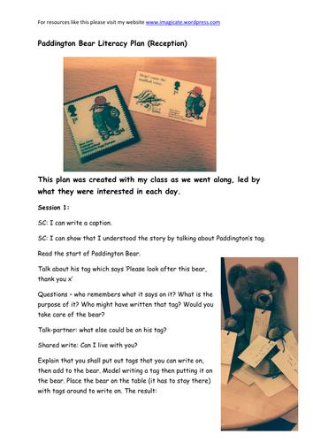 Paddington Bear Literacy For EYFS