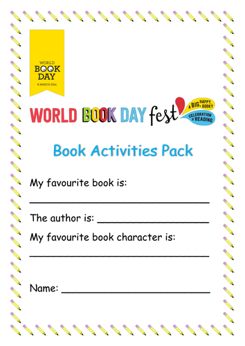 World Book Day Activities Pack by katerinaa | Teaching ...