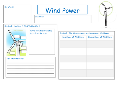 Wind Power Investigation by GKGill | Teaching Resources