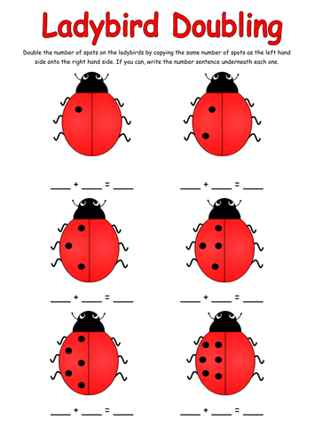 Doubling activity with Ladybirds