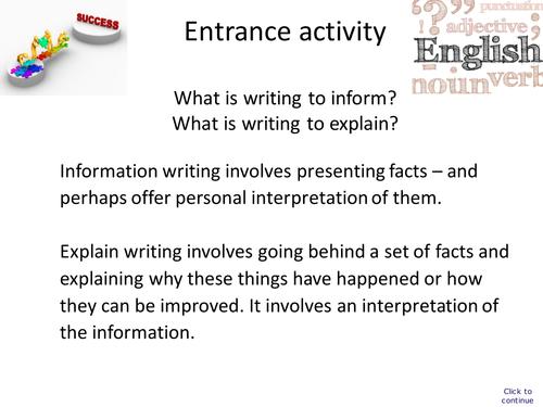 GCSE English Foundation Revision Unit Part Two