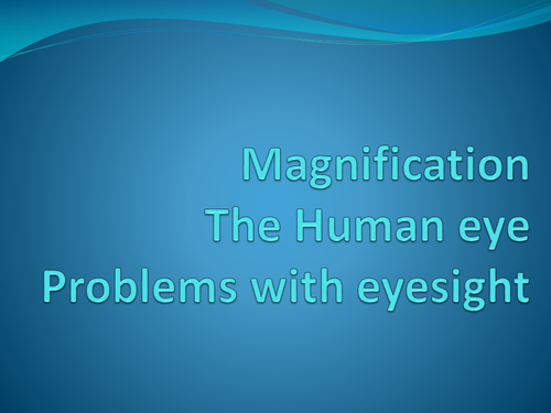 Magnification, Human Eye, Eyesight Problems P3 AQA