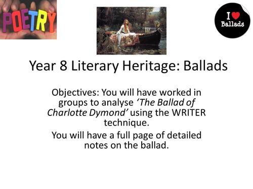 Teaching Ballads SOW: 13 Charlotte Dymond