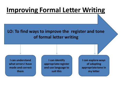 Improving Formal Letter Writing