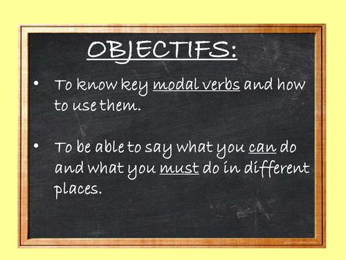 Les vacances - modal verbs and relative pronouns