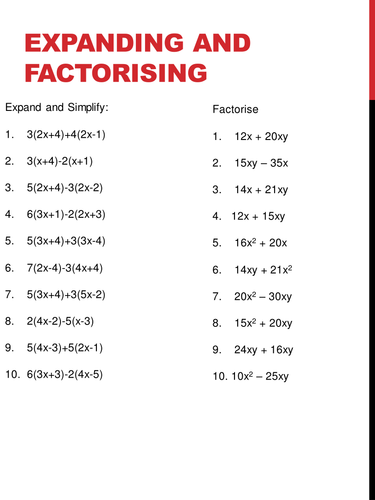Worksheet Factorising Worksheet mappings and functions by stephrichards teaching resources tes