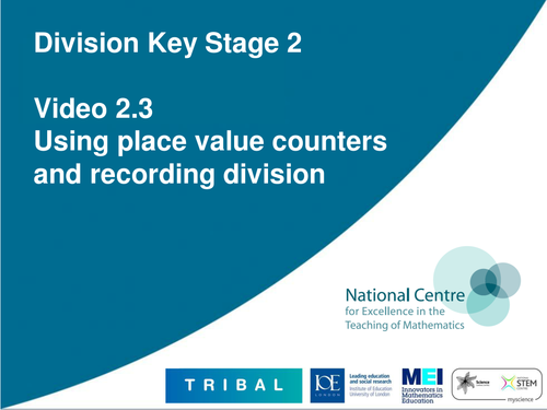 Using place value counters and recording division by ncetm ...