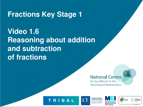 Reasoning about adding & subtracting fractions by ncetm - Teaching ...