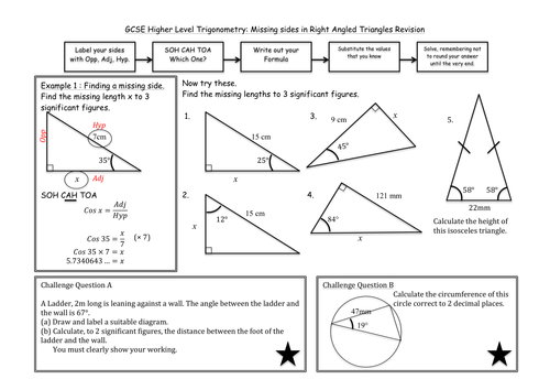 Trigonometry in Right Angled Triangles by madmaths11 - Teaching ...