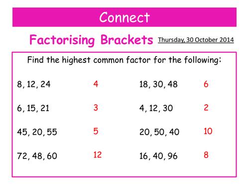 single brackets by teachingmaths teaching resources tes