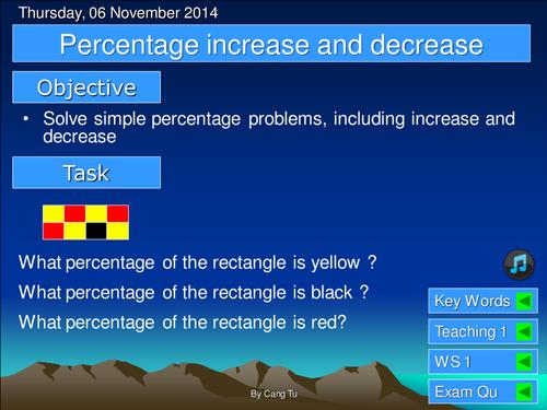 Percentage increase & decrease grade D