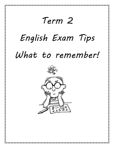 Writing revision booklet