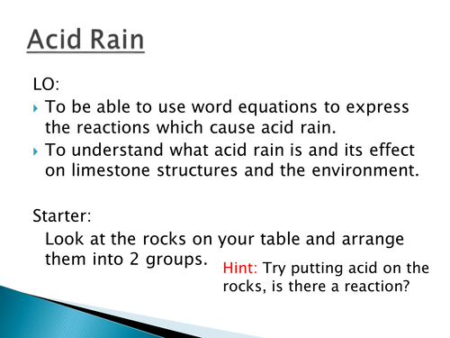 an introduction to the acid rain