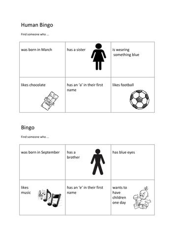 Human Bingo by Pip142 - Teaching Resources - Tes