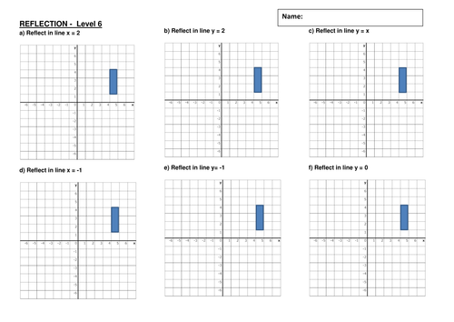 Transformations Reflection classhome worksheet by – Reflection Worksheets