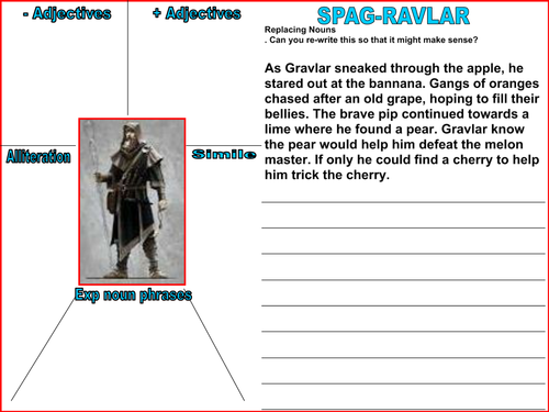 Writing Intervention KS2 (Boys) - Skyrim Theme