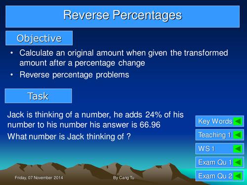 Reverse Percentage Grade C - B