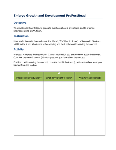 PowerPoint and Worksheet on The Developing Embryo by dazayling ...