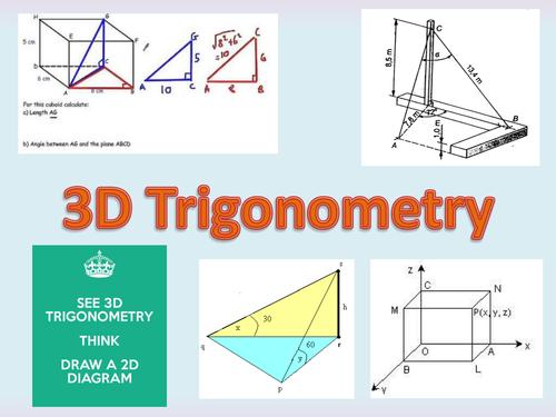 3d Trigonometry By Owen134866 Teaching Resources Tes