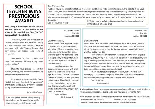 Informal letter writing by misshallenglish teaching resources tes gaps language exam writing practise spiritdancerdesigns Image collections