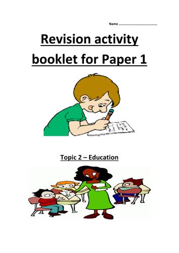 GCSE AQA Unit 3 Education revision guide