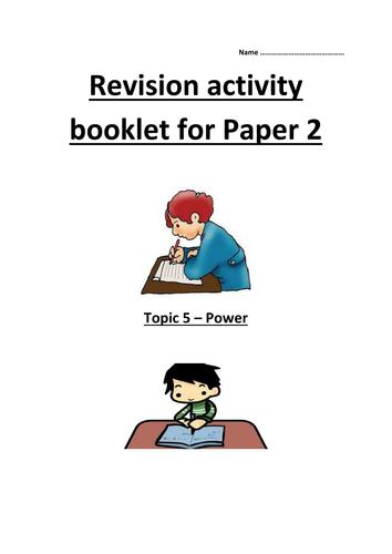 GCSE AQA Unit 5 Power revision guide