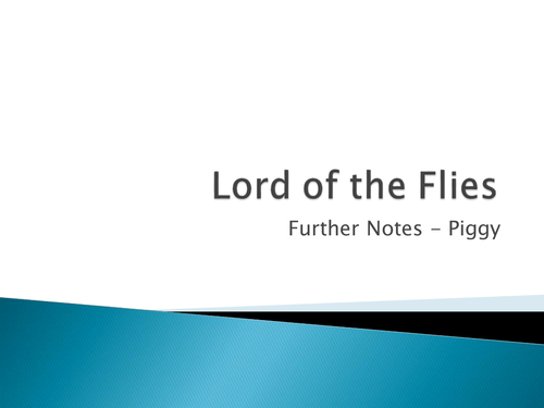 Lord Of The Flies Piggy By Misshallenglish Teaching Resources Tes
