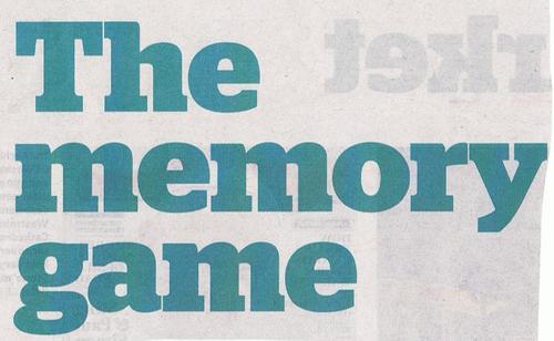 Headline - Sales Forecasting : memory game