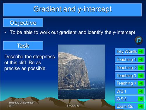 Gradient and y-intercept Grade C -A