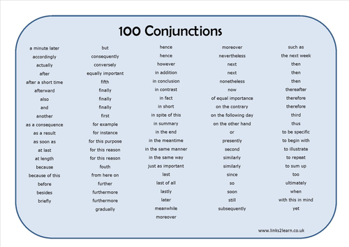 Preposition In Learn In Marathi All Complate: 100 Conjunctions Learning Mat By Eric_t_viking