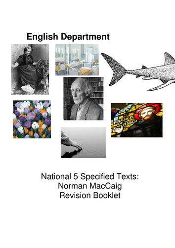 Norman MacCaig National 5 Revision Booklet