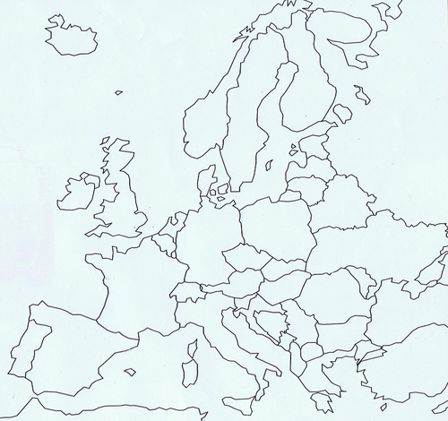 Blank template - Maps & Mapping : europe by forzasslazio - Teaching ...