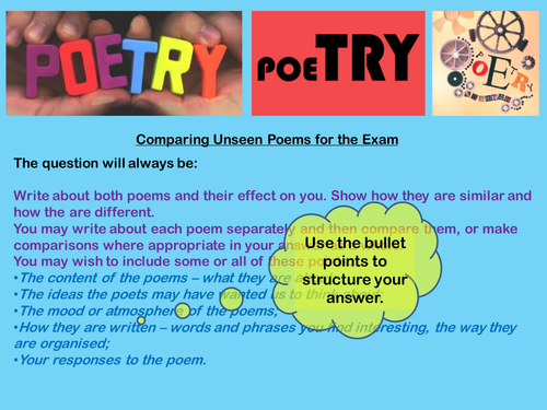 the comparison of first poem for