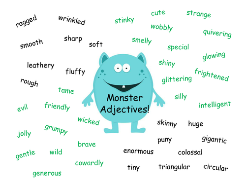 monster adjectives by izzyd1 - Teaching Resources - Tes