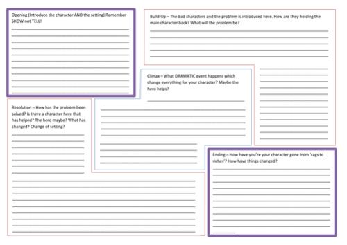 Story writing planning template by nahoughton teaching for Story planner free