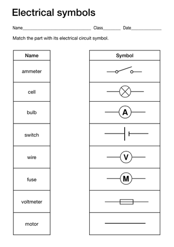 Electrical Symbols by lukemorton - Teaching Resources - Tes