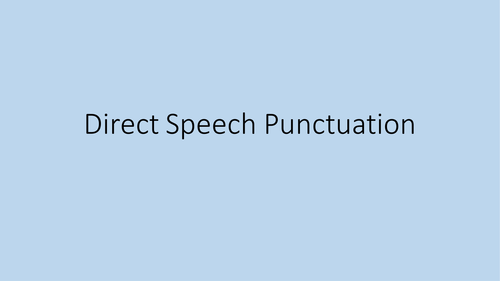 Speech Punctuation Game by londinius - Teaching Resources - TES