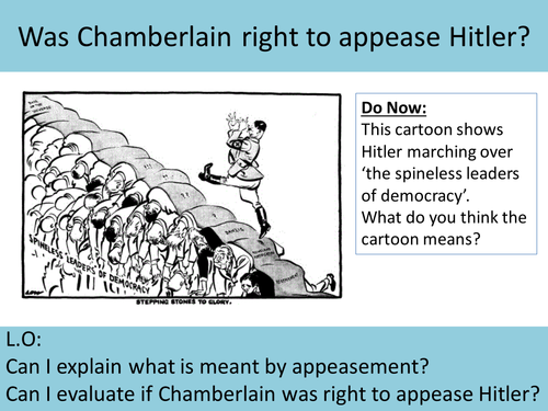 Was Chamberlain right to appease Hitler?