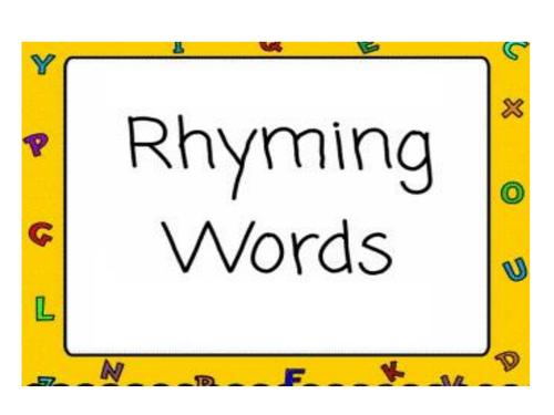 Rhyming Words Game