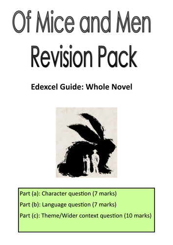 Health Care Essay Topics Edexcel Gcse English Of Mice  Men Revision Pack By Ashleymarie  Teaching  Resources  Tes Examples Of Good Essays In English also Thesis Statement In Essay Edexcel Gcse English Of Mice  Men Revision Pack By Ashleymarie  Classification Essay Thesis Statement