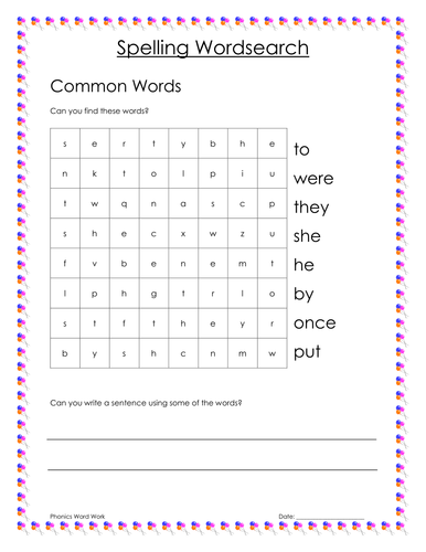 Phonics New Spelling Rule Word Searches For Year 1 By Emma