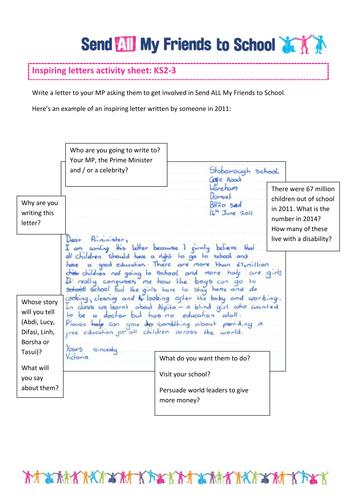 send my friend to school inspiring letters by sendmyfriend teaching resources tes