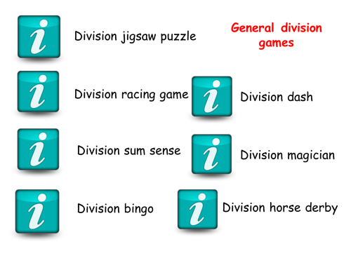 KS2 Division games by DawnChopping - Teaching Resources - Tes