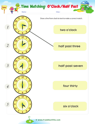 telling the time exercises for esl efl by freddiesville teaching resources. Black Bedroom Furniture Sets. Home Design Ideas