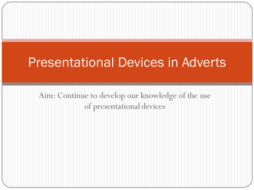 Presentational Devices in Adverts