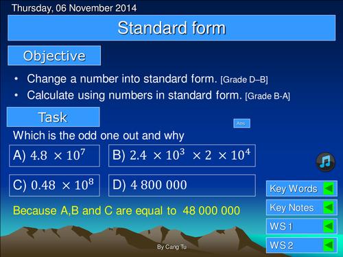 Standard Form Grade D-B