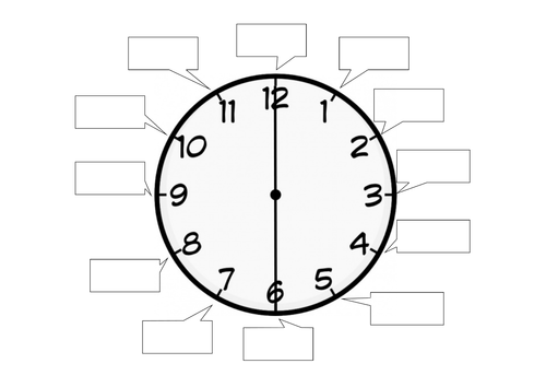 Blank clock fiveminute intervals by sonjacoulter Teaching – Blank Clock Worksheet